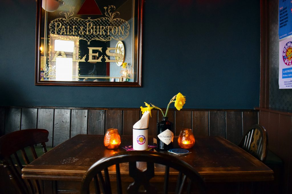 Cosy interior shot of The West Hill Tavern