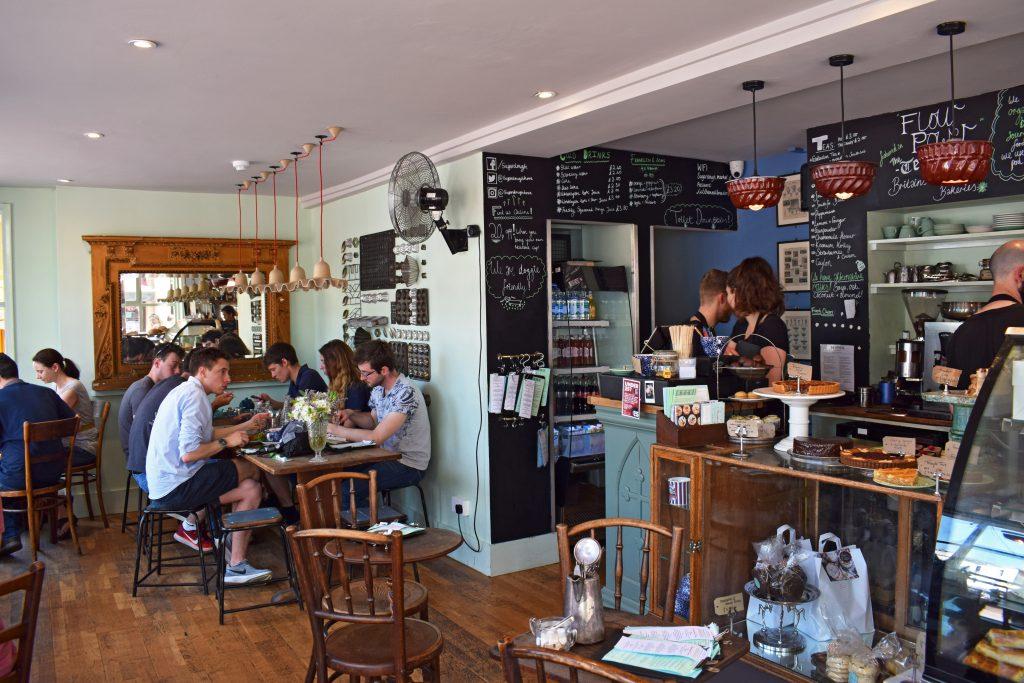 An interior shot of the Sugardough cafe in Brighton
