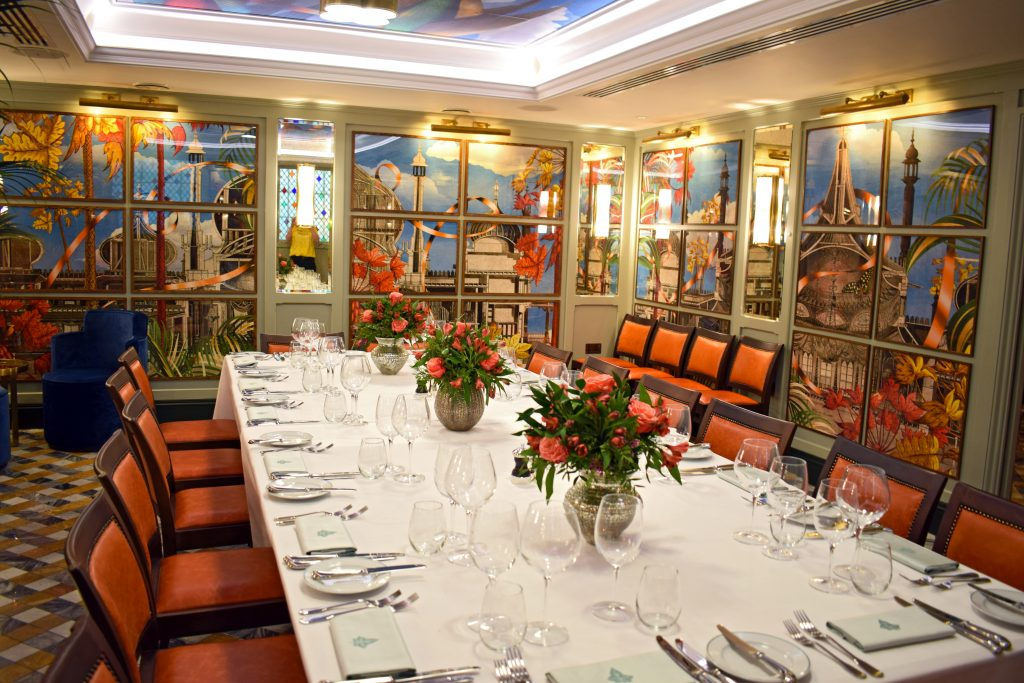 The Tidal Room: private dining room at the back of The Ivy