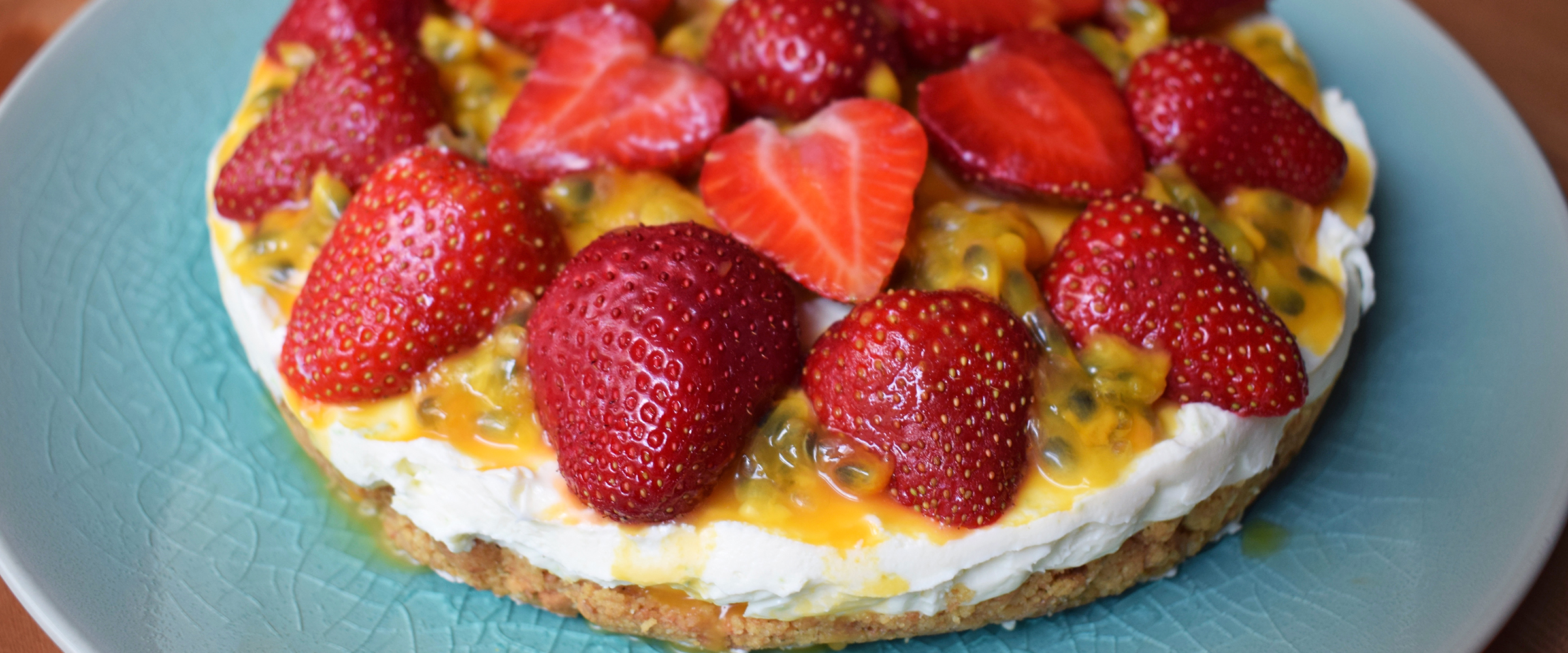 Cook with M&S: No-bake strawberry and passionfruit cheesecake