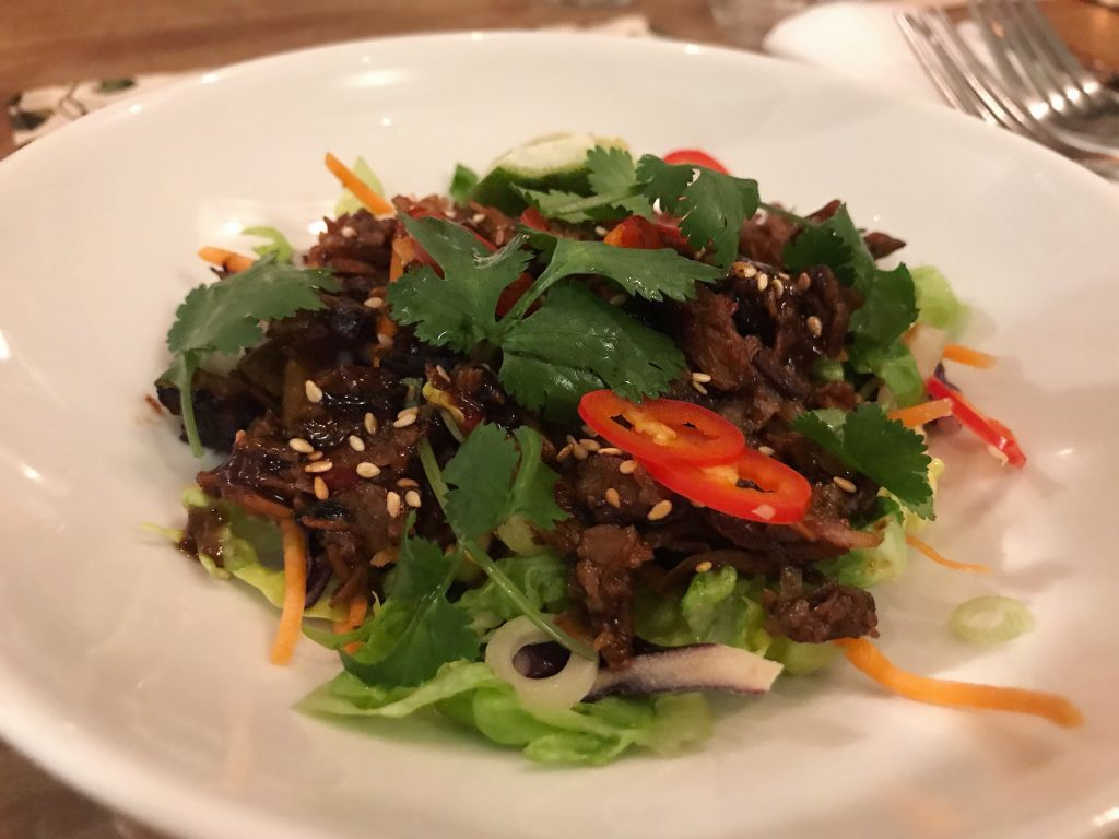 Vegan duck salad at Bill's