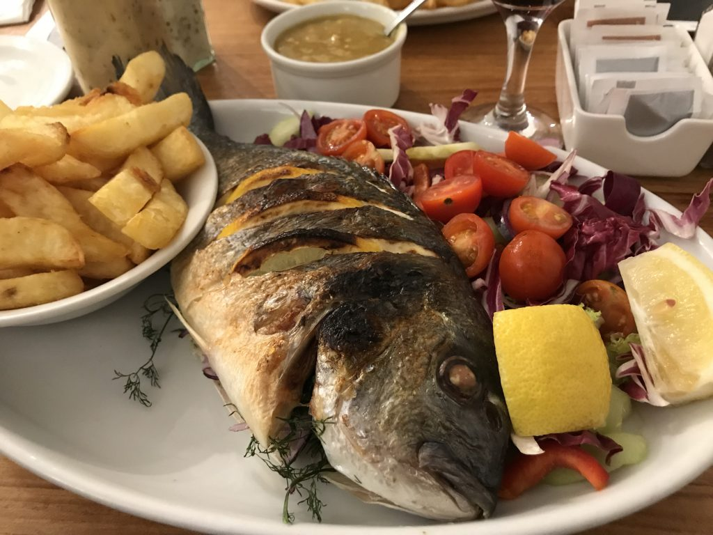 Fresh sea bream | Bankers fish and chips